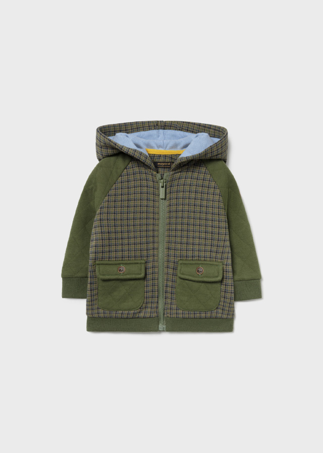 MAYORAL BABY BOYS Green Mixed Hoodie 2423-80