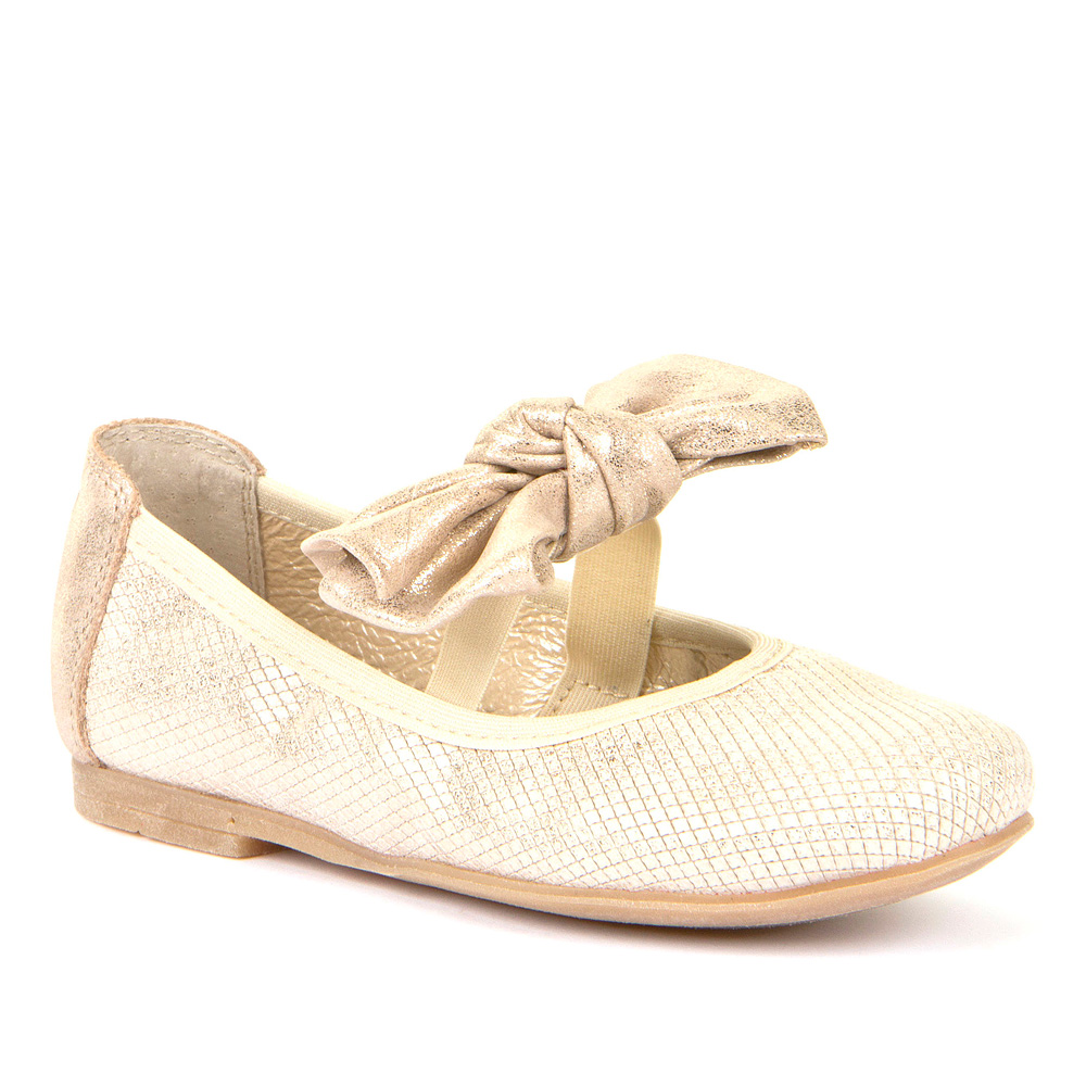 FRODDO Girls  Ballerinas Gold with Bow G3140105