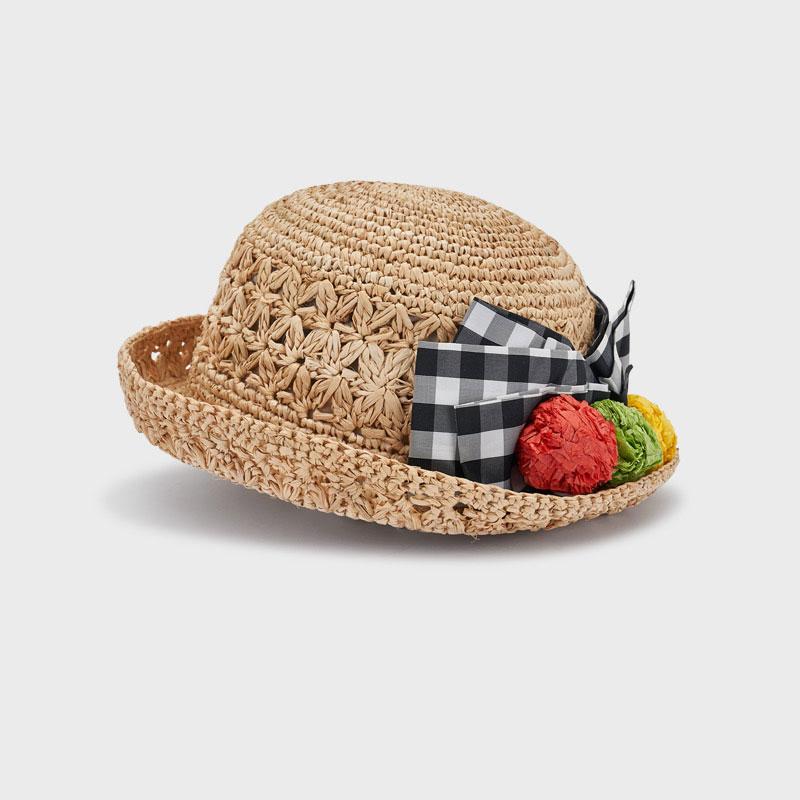 MAYORAL GIRLS Vichy Bow Hat 10081-010