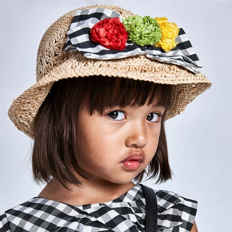 MAYORAL GIRLS Vichy Bow Hat 10081-010