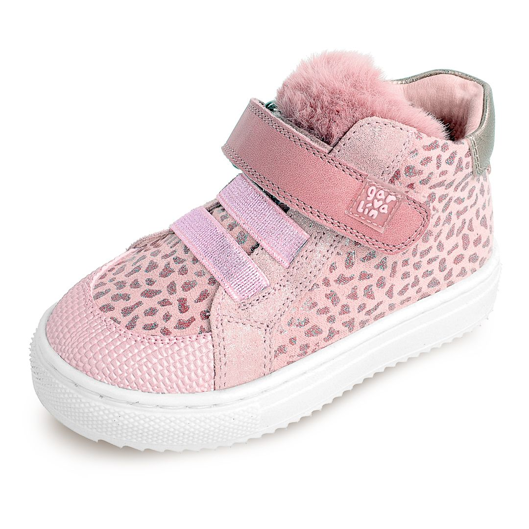 GARVALIN pink and grey leopard print 201360-C