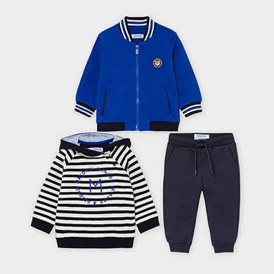 MAYORAL Boys Tracksuit Set 3 Pieces Blue 2888-073 NOW £16.95