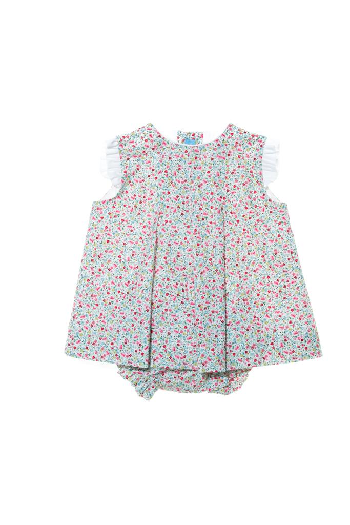 LAPEKI Baby Dress Florencia Coral.