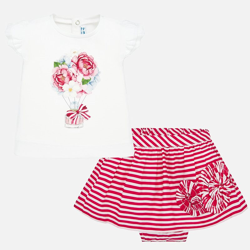 MAYORAL Baby t-shirt and striped skirt set 1949. Before £28.95