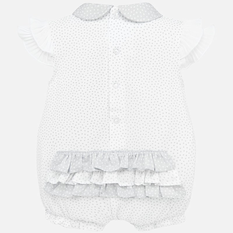 MAYORAL BABY Girl Bear Grey Romper 1753-25