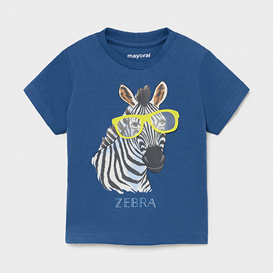 "MAYORAL BABY BOY 'Play with Interactive Print' T-Shirt ""zebra"" 1001-050 NEW SEASON"