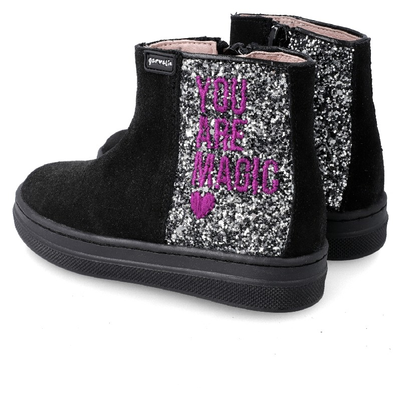 GARVALIN Girls glitter boots BLACK 201637