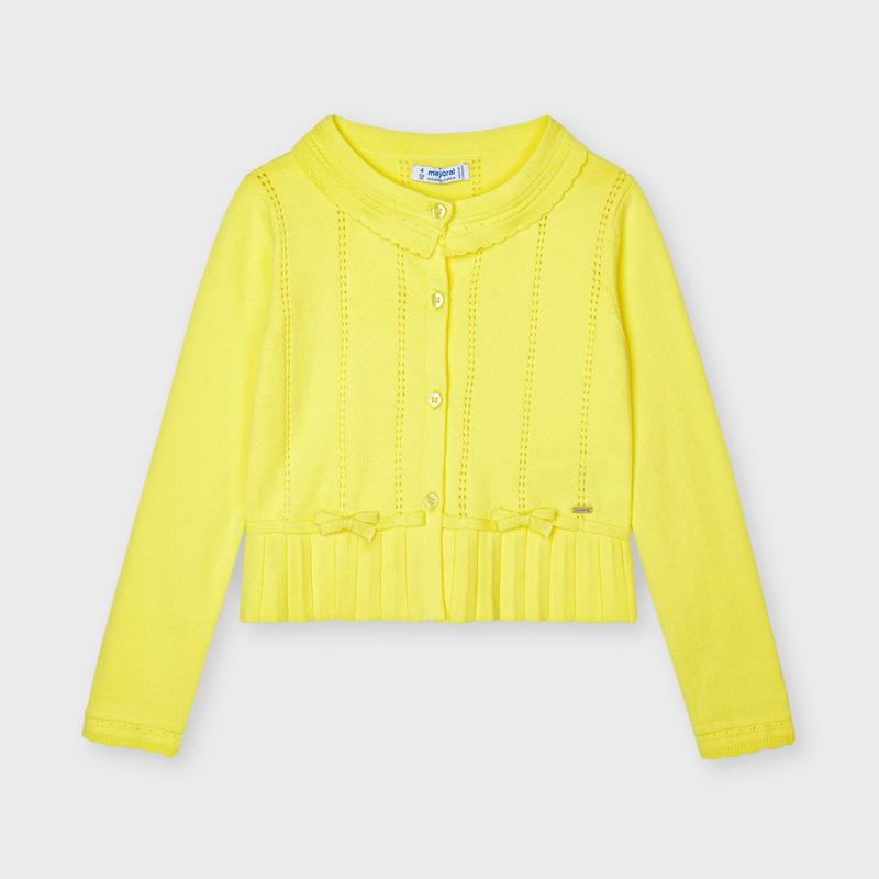 MAYORAL GIRLS Ecofriends Yellow Cardigan 3324-039