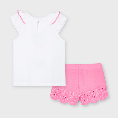 MAYORAL GIRLS Set Shorts with Embroided Shirt 3217-012