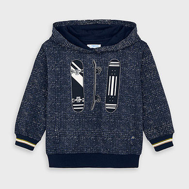 MAYORAL Boys Hoodie 'Skateboard' Navy 4460-29 NOW 12.95