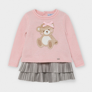 MAYORAL BABY GIRL Teddy Dress Pink 2948-019