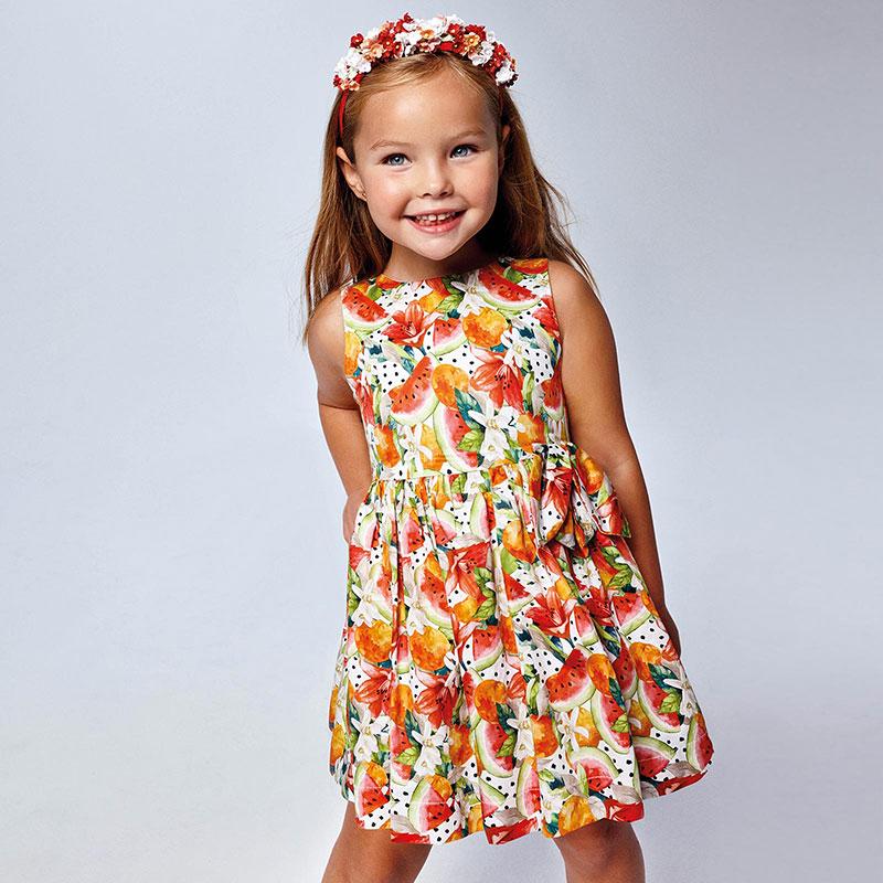 MAYORAL GIRLS Printed Dress 'Watermelon' 3929-085