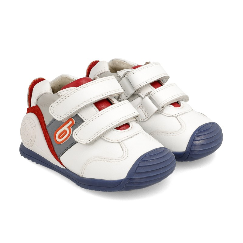 BIOMECANICS BOYS White, Red and Grey Trainers 202148