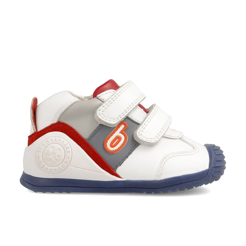 BIOMECANICS Boys White/Red/Grey Trainers 202148 NOW £29.95