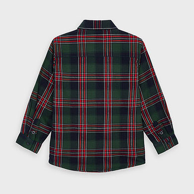MAYORAL Boys Twill checked over-shirt 4138-033
