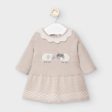 MAYORAL Baby Girl Sheep Dress Marzipan 2855-70