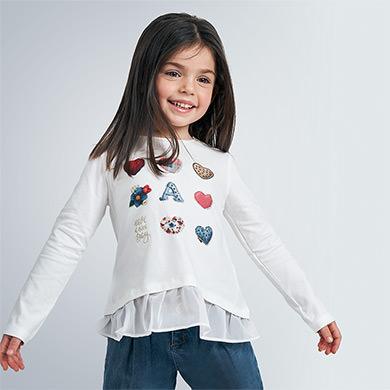 MAYORAL GIRLS T-Shirt 'Hearts' 4063-010