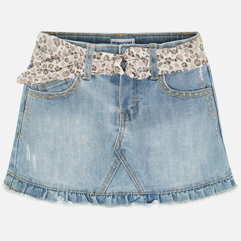MAYORAL Girls Skirt Denim bleached 3903-024. Before £21