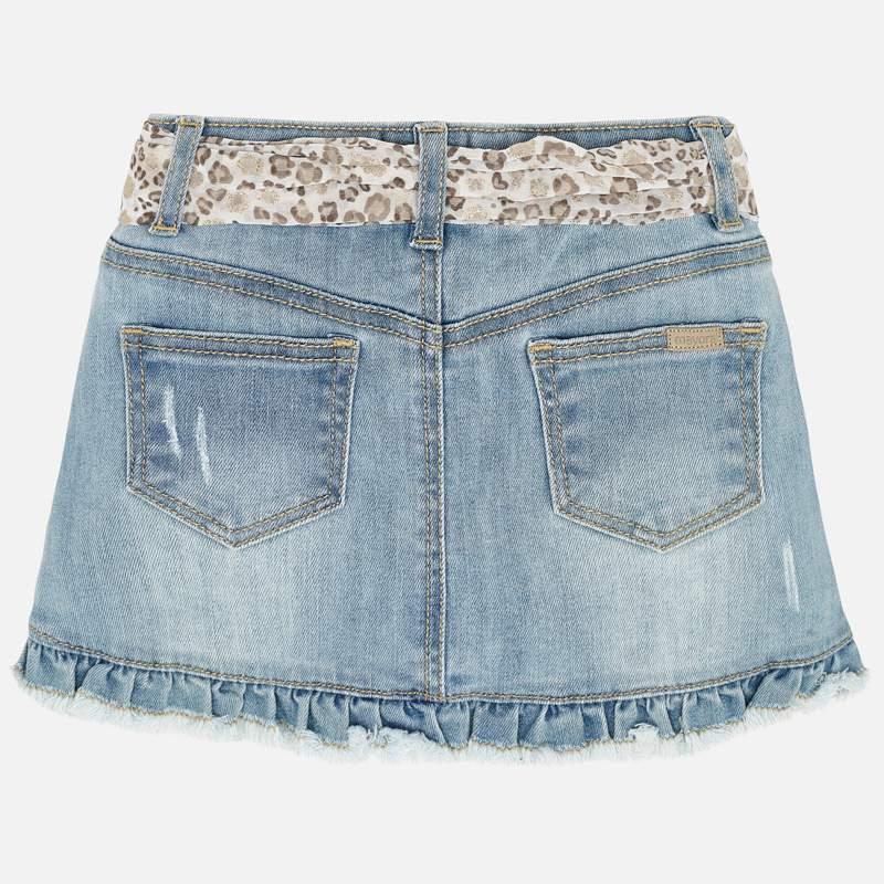 MAYORAL Girls Skirt Denim bleached 3903-024