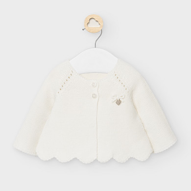 MAYORAL Girls Cardigan Cream 2333-048 NOW £10.50