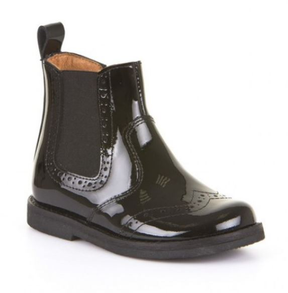 FRODDO Chelsea Boots Black Patent  G3160061-1