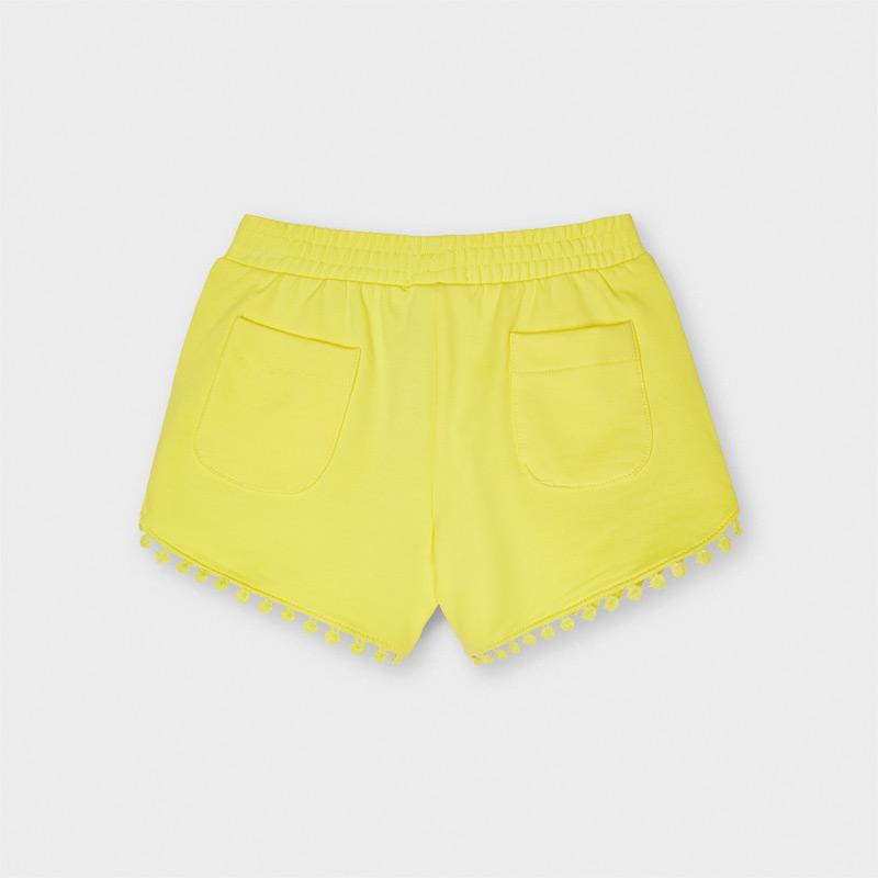 MAYORAL GIRLS Yellow Jogger Shorts 607-034