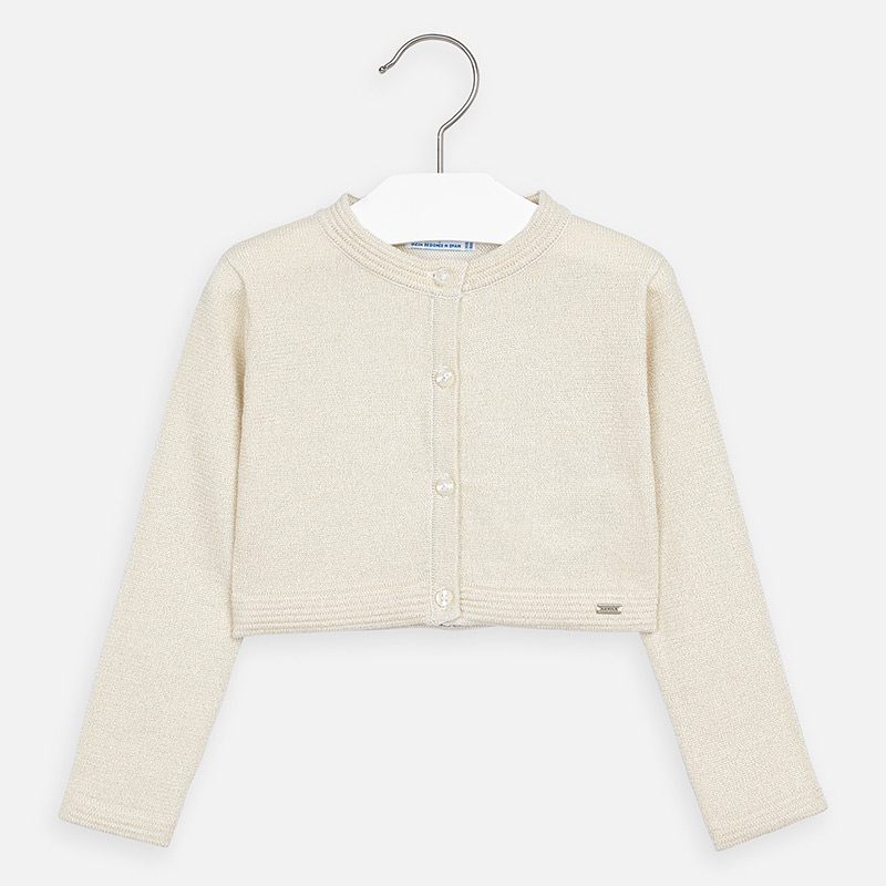 MAYORAL Girls Cardigan, Sand 321-090. Before £14.95