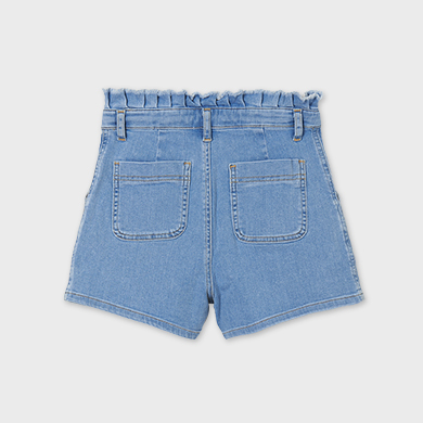 MAYORAL TEEN GIRL High Waisted Denim Shorts 6273-005 NEW SEASON