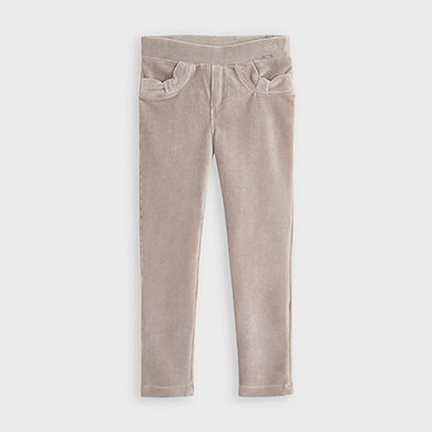 MAYORAL Girls Trousers Corduroy Knit  Beige 714-025