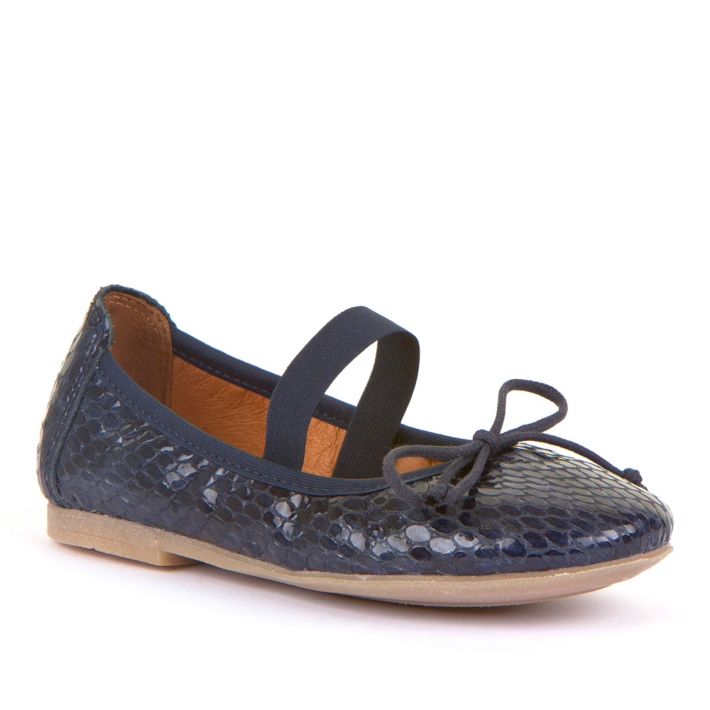 FRODDO Girls Ballerinas Snake with Elastic  Navy G3140101-2