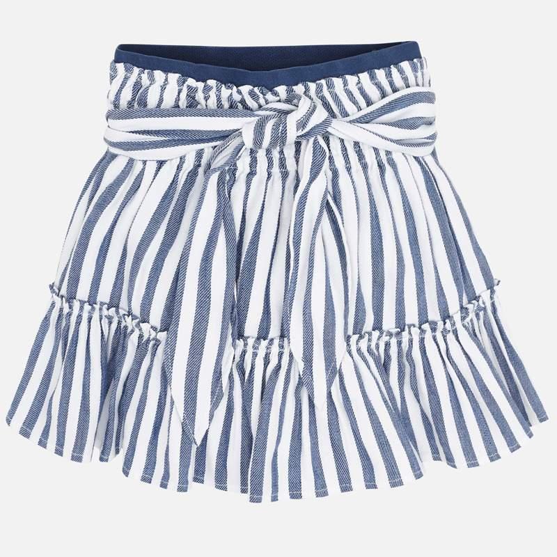 MAYORAL Girls Skirt Blue/White Stripes 3904-73. Before £20.50