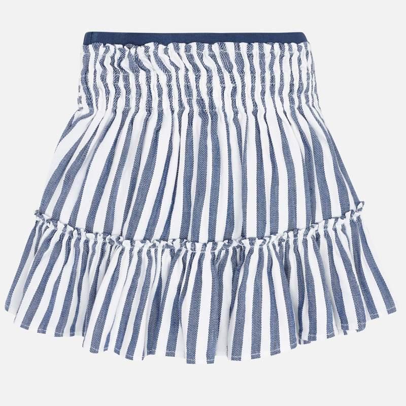 MAYORAL Girls Skirt Blue/White Stripes 3904-73