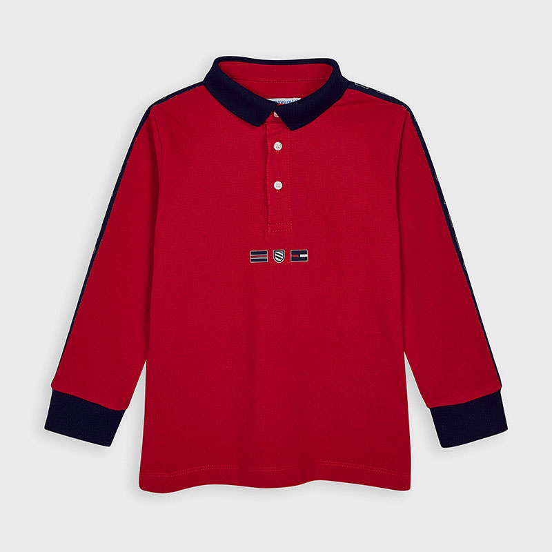 MAYORAL Boys Red polo t-shirt 4130-38