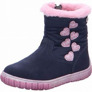 """LURCHI Girls Boots Navy/Pink """"Hearts"""" Waterproof 33-14690-42 NOW £29.95_Last Pair"""
