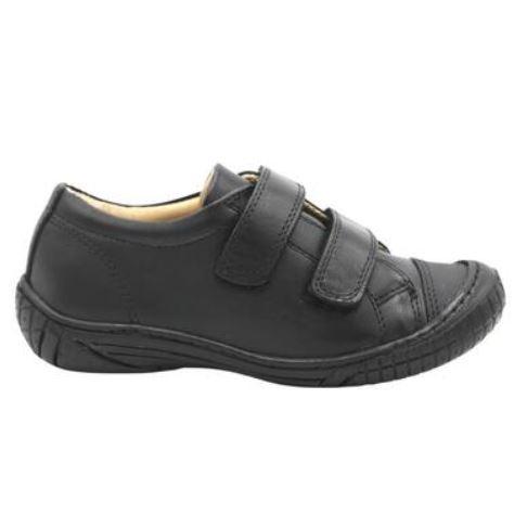 "School Shoes PETASIL ""Linus"" Black Leather 6038"