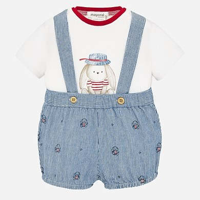 MAYORAL Baby t-shirt and dungaree set 1663-090