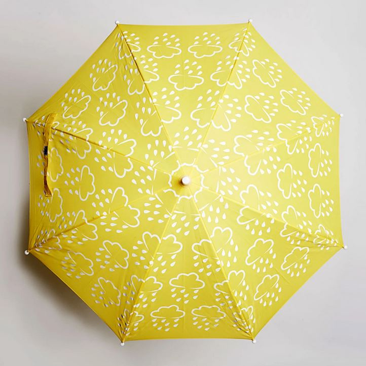 GRASS AND AIR Revealing Colours Umbrella - Yellow