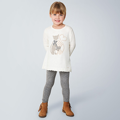 MAYORAL Girls Set 2 Pieces 'Cats' 4722 NOW £14.95