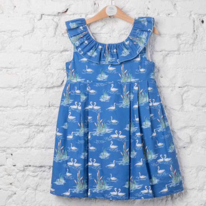 LAPEKI Girls Swans Dress