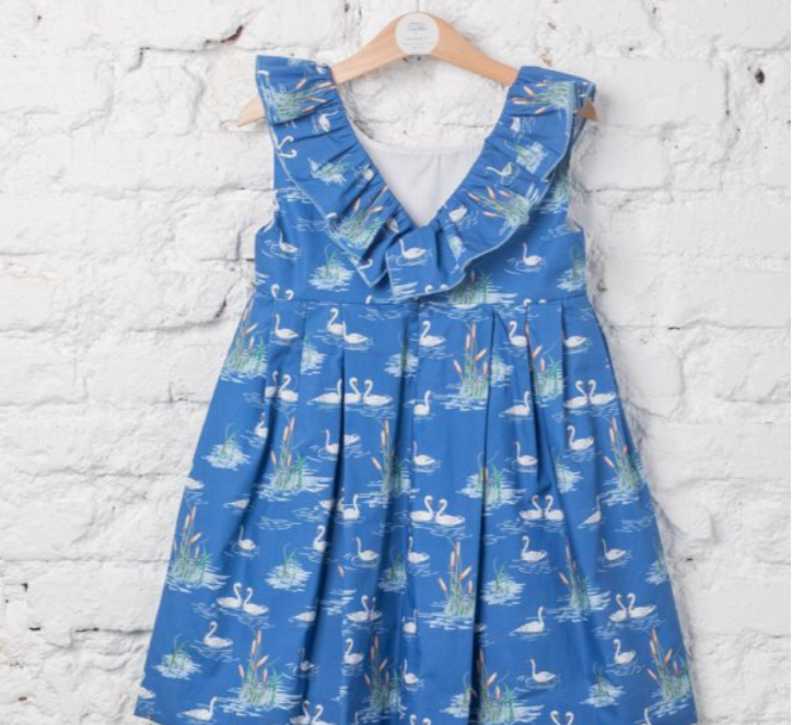 LAPEKI Girls Swans Dress. Before £36.95