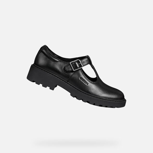 School Shoes GEOX T-Bar J Casey G.E J8420E