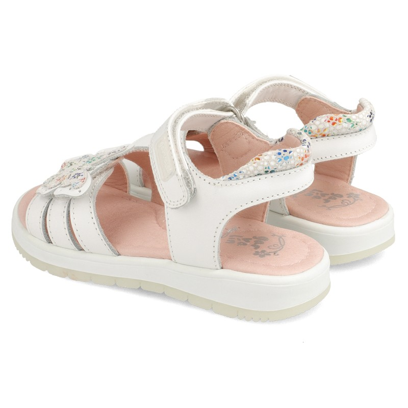 GARVALIN Girls Sandals White Butterfly 202641-B NOW £25.95_ Last Pair