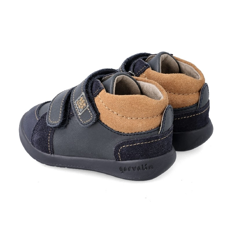 GARVALIN Boys Navy and brown Shoes 201330