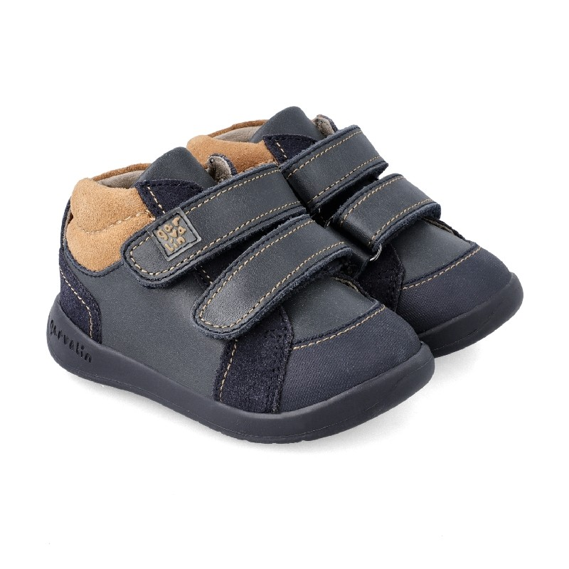GARVALIN Boys Ankle Boot Navy and Camel 201330 NOW £36.95