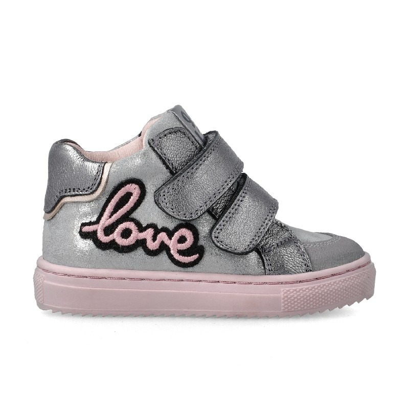 "GARVALIN Girls Ankle Boots Silver and Pink ""Love"" 201361-B NOW £35.95"