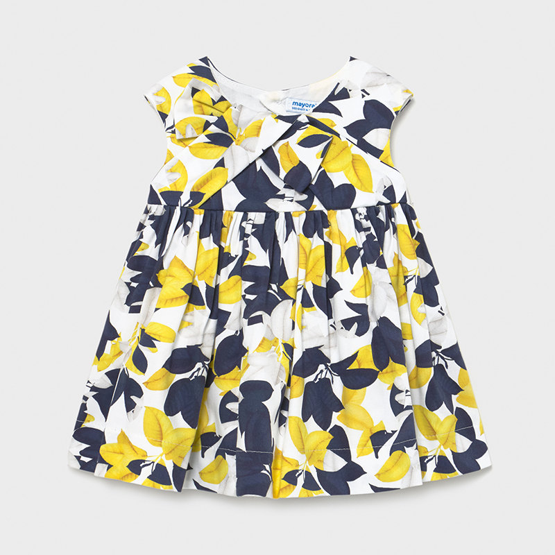 MAYORAL BABY GIRL Satin Print Dress 1966-006