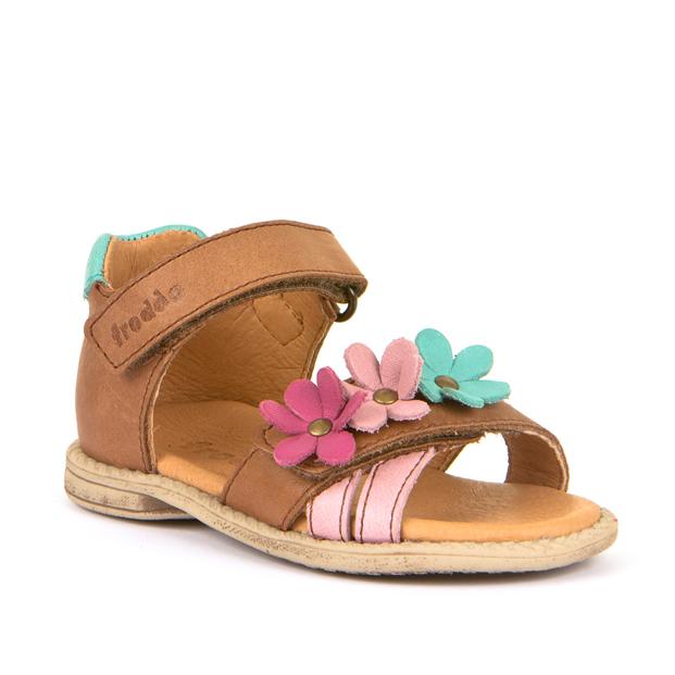 FRODDO Brown Sandal 3Flowers G2150117-5