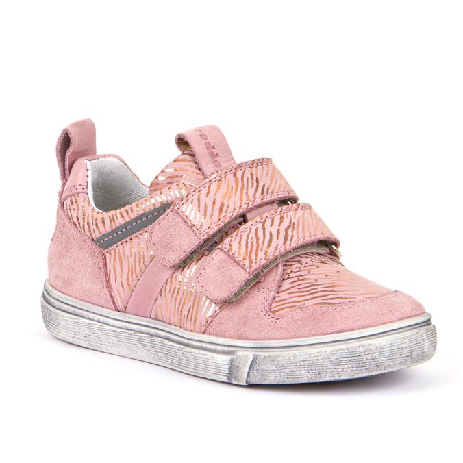 FRODDO Girls Double Velcro Metallic Pink G3130143-5