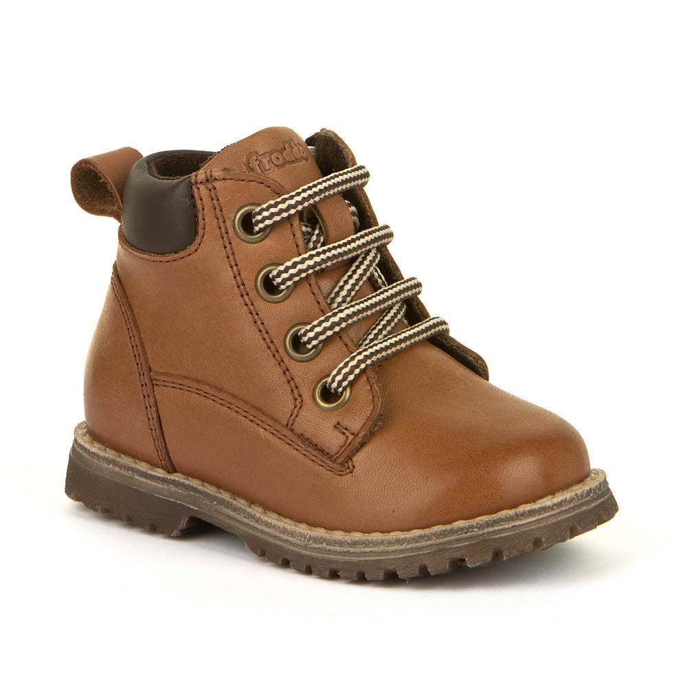 FRODDO Boys/Girls Boots Side Zipper and Laces Cognac G2110085-7 NOW £39.95