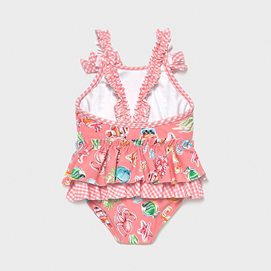 MAYORAL BABY GIRL Ruffle Swimsuit 1719-073